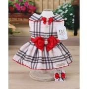 Vestido Xadrez/Vermelho