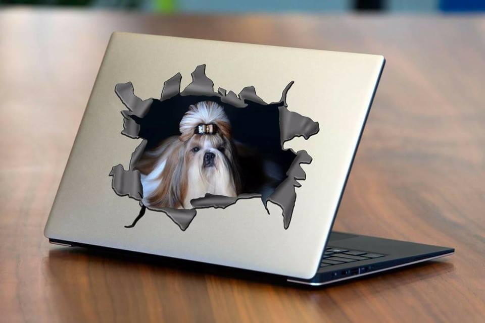 Adesivo Personalizado com Foto Pet - Efeito rasgado