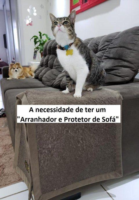 ARRANHADOR E PROTETOR DE SOFÁ COM VELCRO PARA GATOS E CÃES