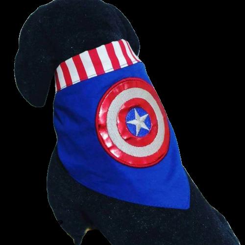 Bandana Capitão América - Bordada