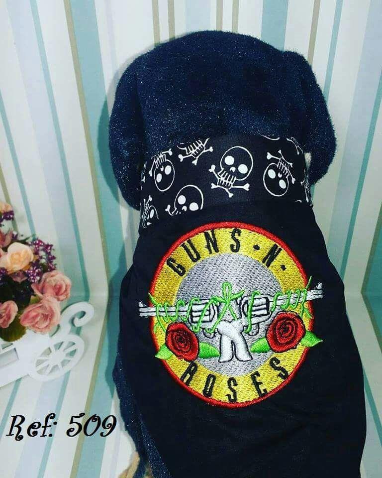 Bandana para Cachorro Bordada - Guns N Roses