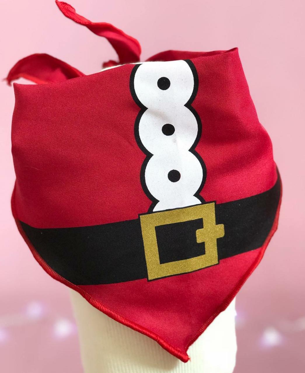Bandana para Cachorro Papai Noel - Natal