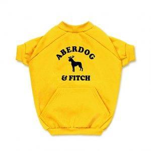 Blusa de Moletom para Cachorro Aberdog Amarela