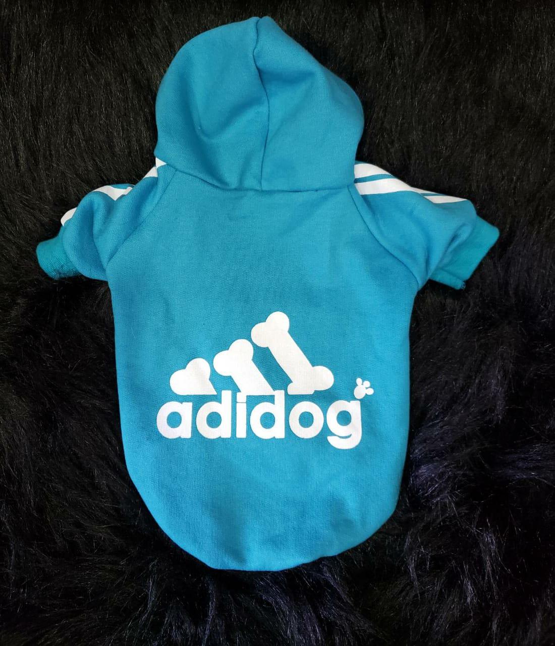 Blusa De Moletom para Cachorro Adidog Azul
