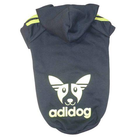 Blusa De Moletom para Cachorro Adidog Azul Marinho