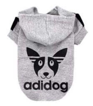 Blusa De Moletom para Cachorro Adidog Cinza