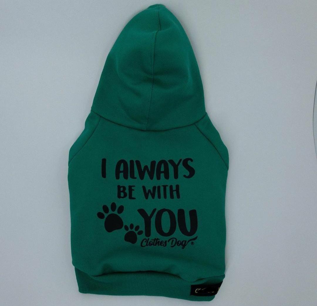 Blusa de Moletom para Cachorro Always- Verde Bandeira