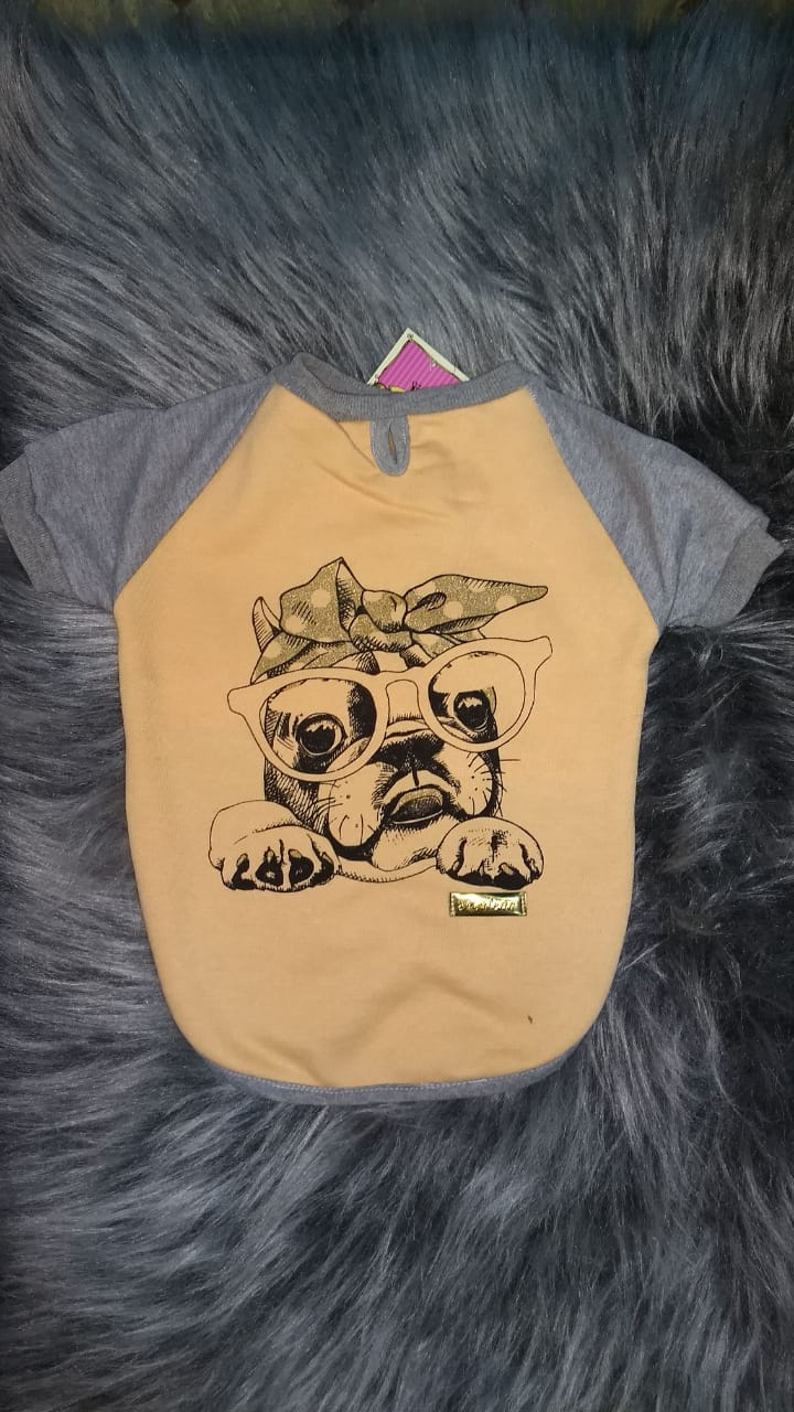 Blusa De Moletom para Cachorro - Bulldogue Amarela