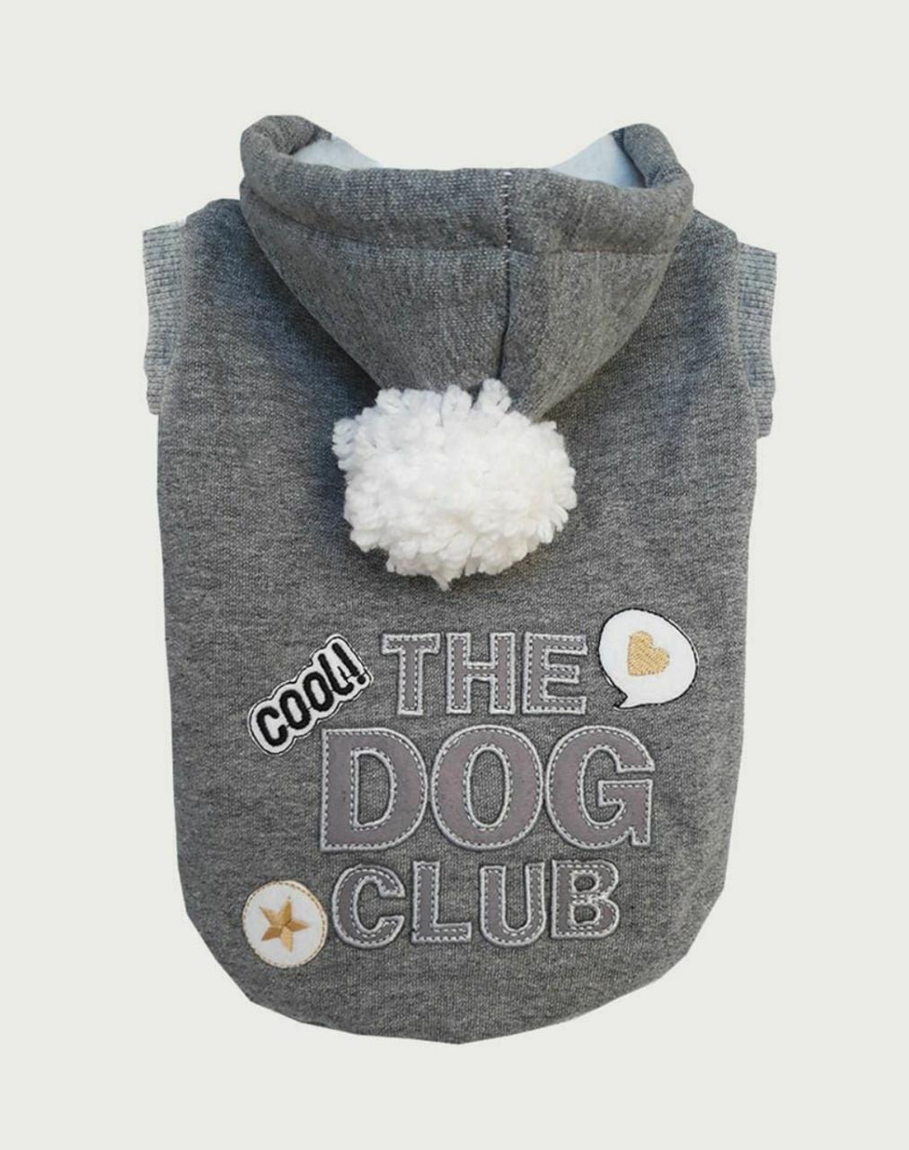 BLUSA DE MOLETOM DOG CLUB- CINZA