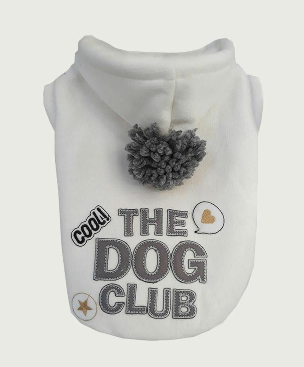Blusa De Moletom para Cachorro Dog Club- Off White