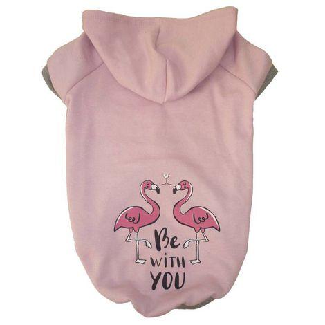Blusa De Moletom para Cachorro Flamingos