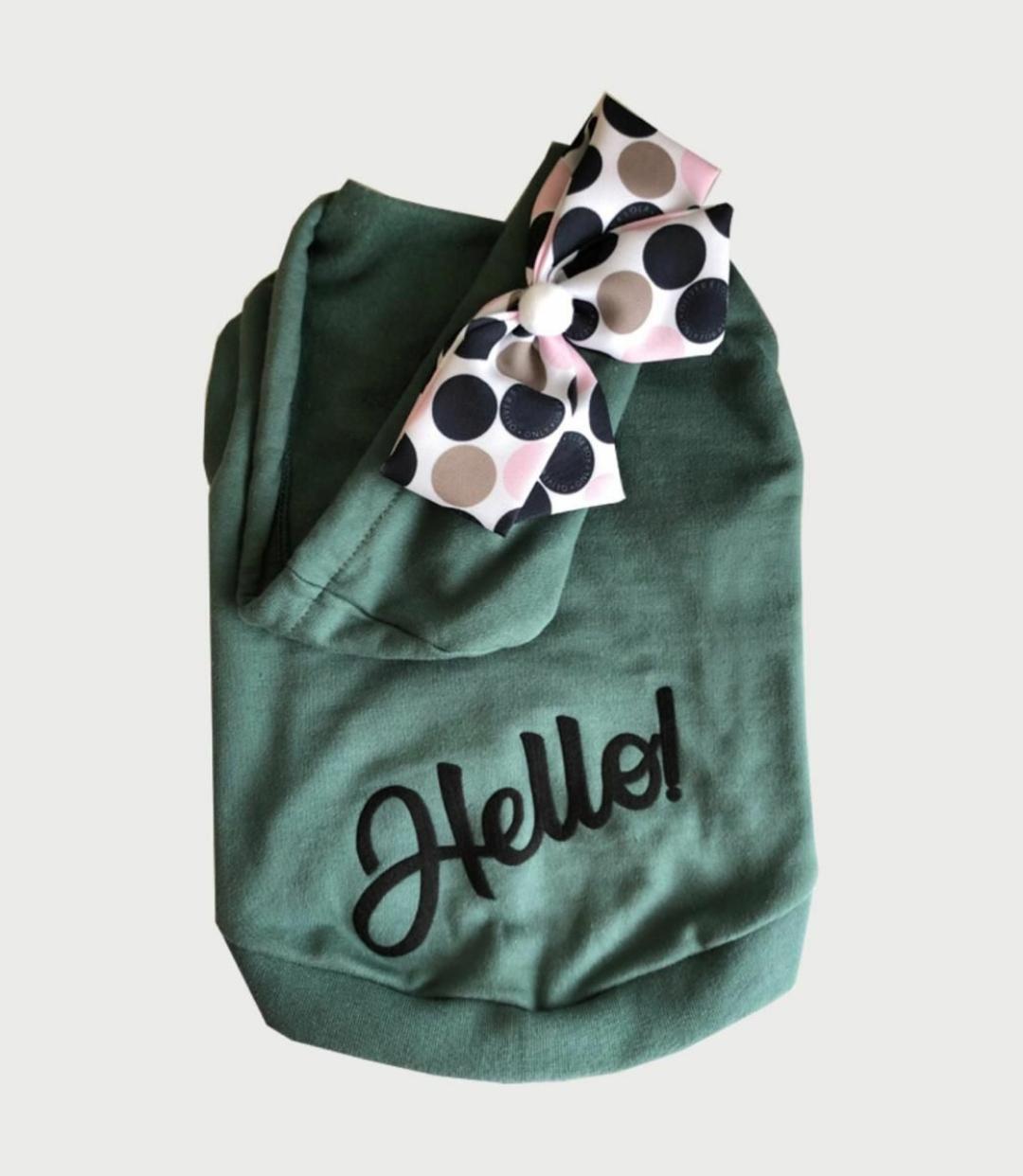 Blusa De Moletom Hello- Verde