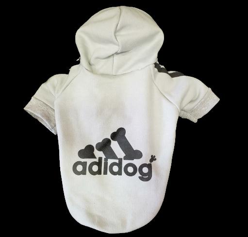 Blusa De Moletom para Cachorro Adidog- Cinza