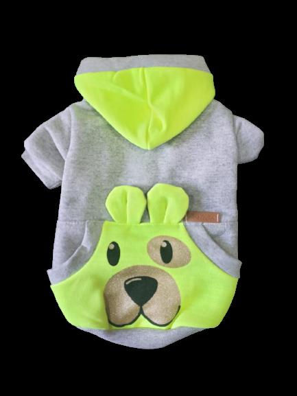 Blusa De Moletom para Cachorro Rostinhos- Neon Amarelo