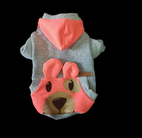Blusa De Moletom para Cachorro Rostinhos - Neon Rosa
