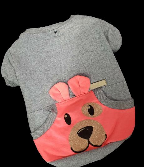 Blusa De Moletom para Cachorro Rostinhos - Neon Rosa (Sem Touca)