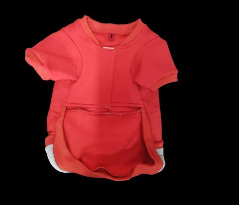 Blusa De Moletom para Cachorro Rostinhos - Vermelho (Sem Touca)