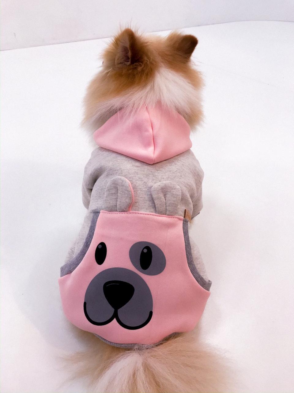 Blusa De Moletom para Cachorro Rostinhos Coloridos