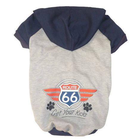 Blusa De Moletom para Cachorro Route 66