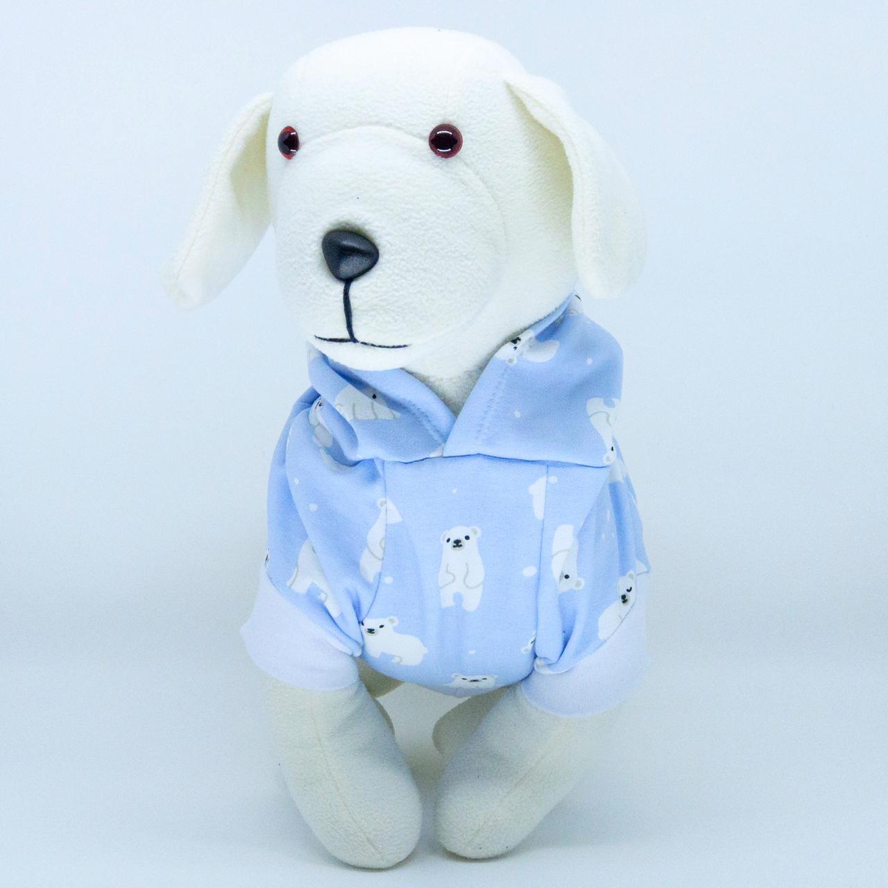 Blusa de Moletom para cachorro Urso Polar- Azul