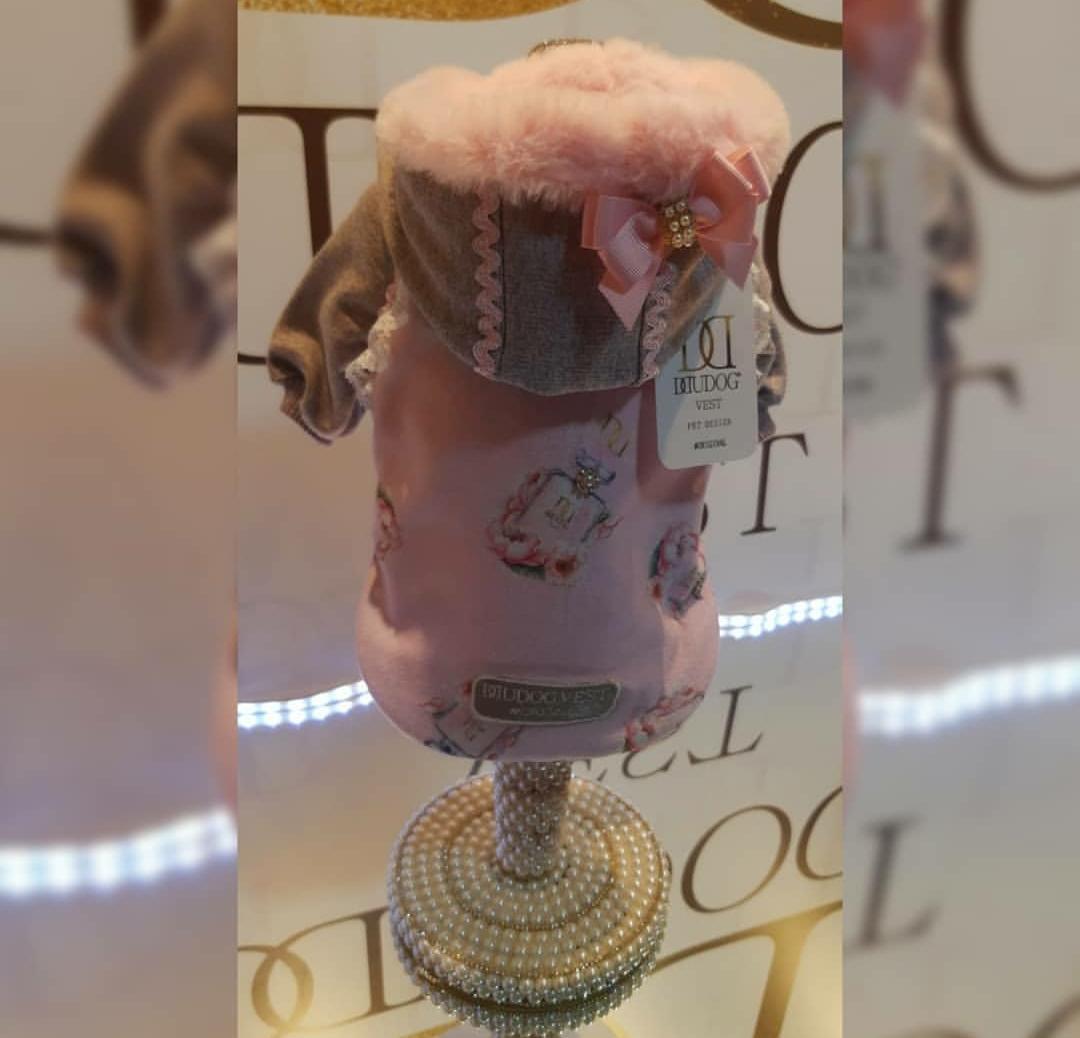 Blusa de Moletom para Cachorro Perfume Rosa
