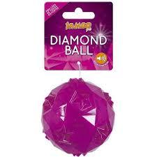 Brinquedo para Cachorro Bola Diamond Pequena - Pink E Azul