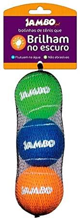 Brinquedo para Cachorro Bola de Tênis Fluorescente