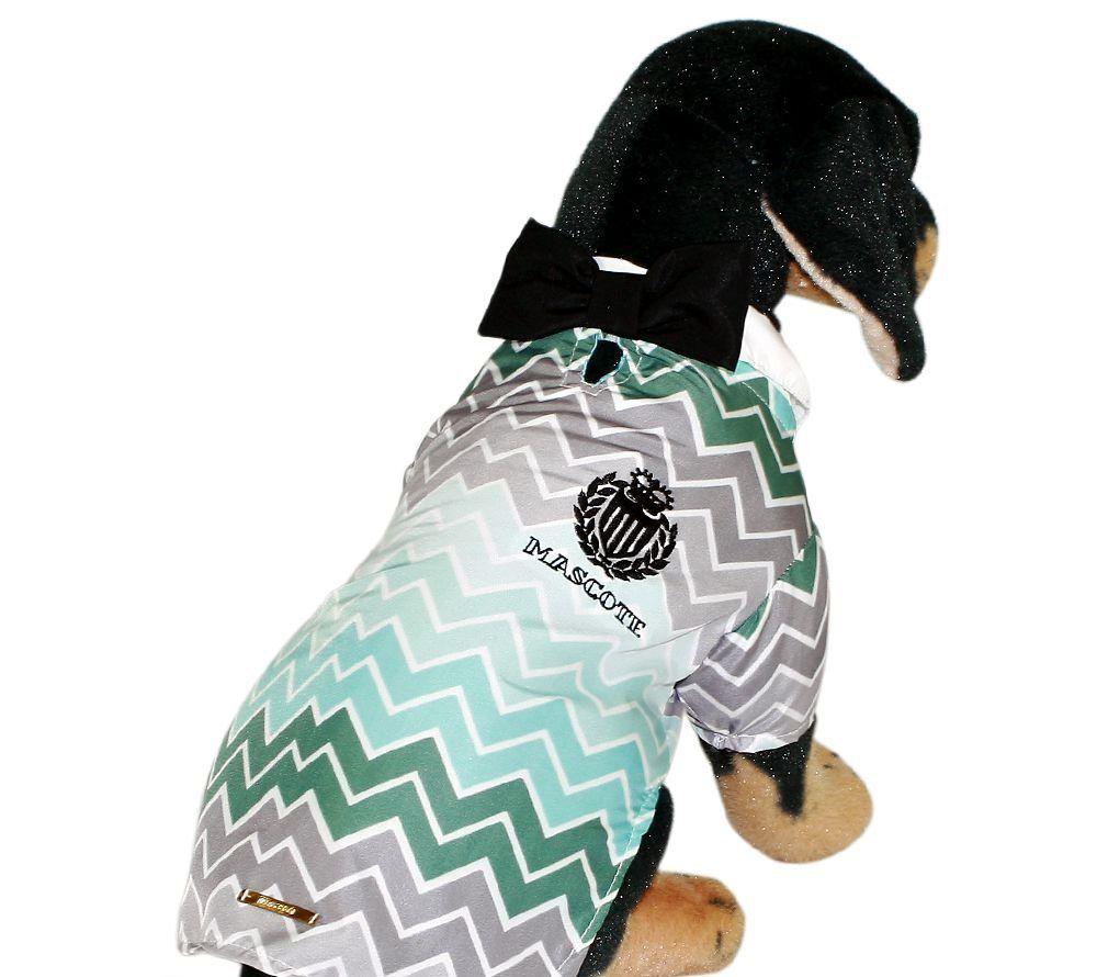 Camisa para cachorro Chevron