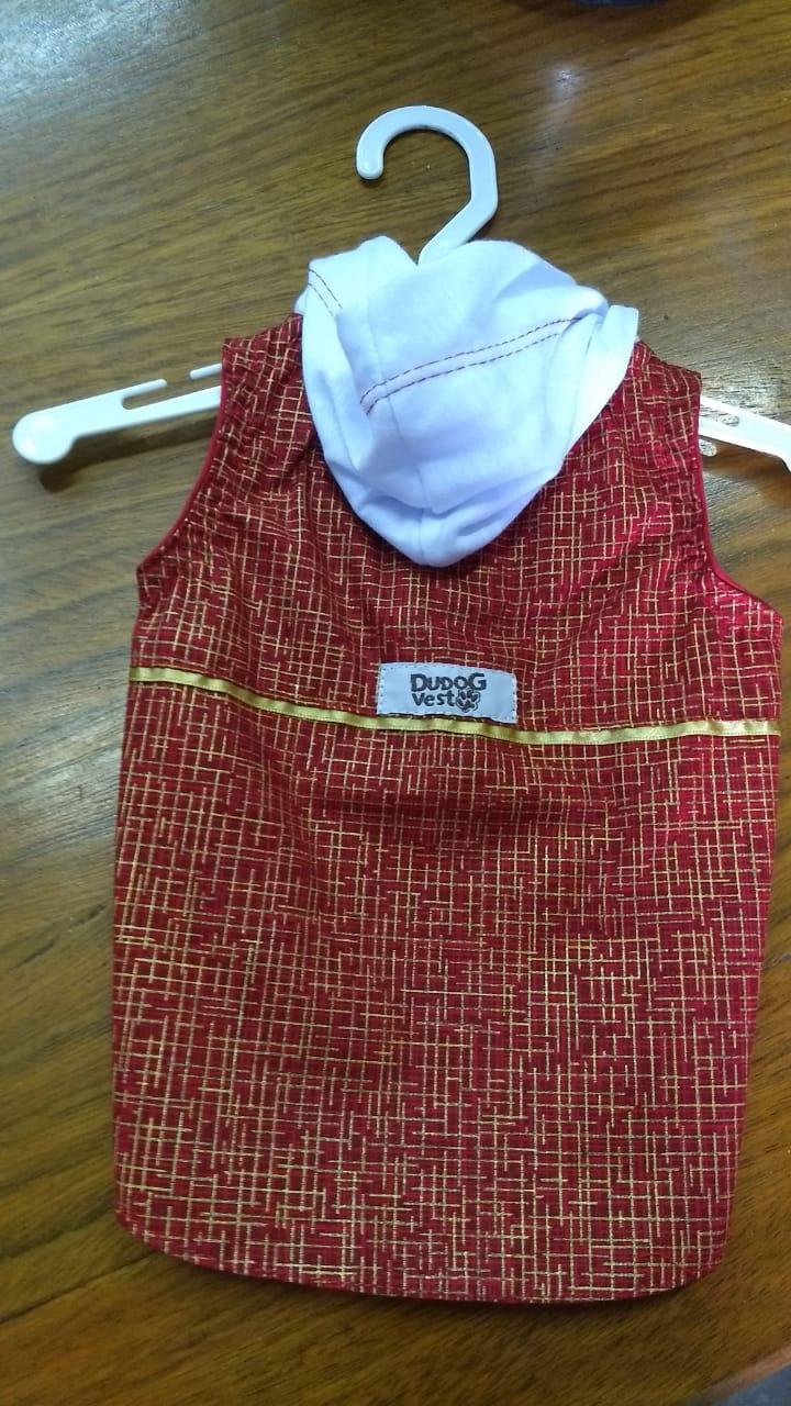 Camisa para Cachorro Vermelho e Dourado - Natal
