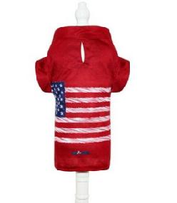 Camisa para Cachorro Estados Unidos Vermelha