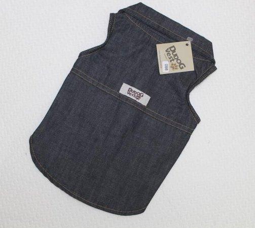 Camisa Regata para Cachorro- Jeans