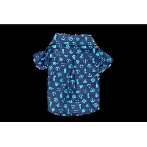 Camisa para Cachorro Marinheiro Azul