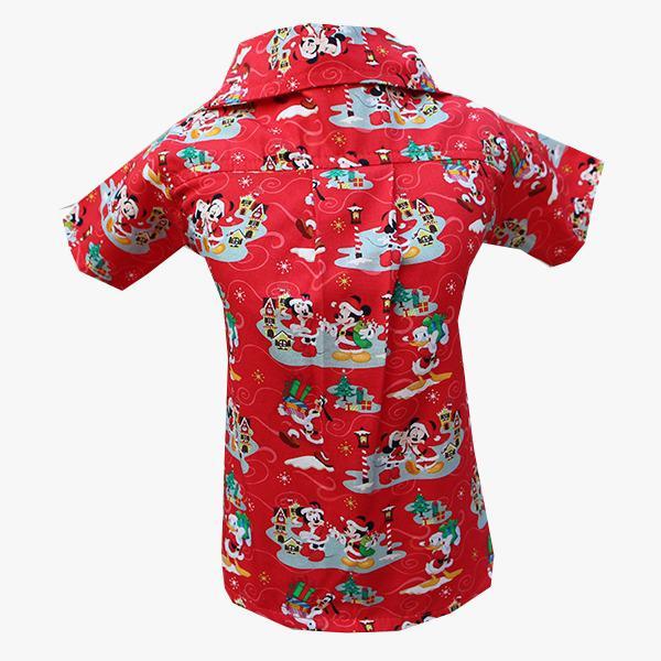 Camisa para Cachorro Mickey Vermelha Natal