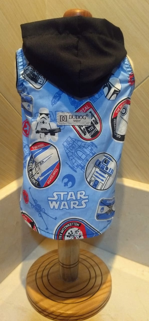 Fantasia para Cachorro Camisa Star Wars c\ Capa