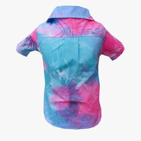 Camisa para Cachorro Tie Dye Azul