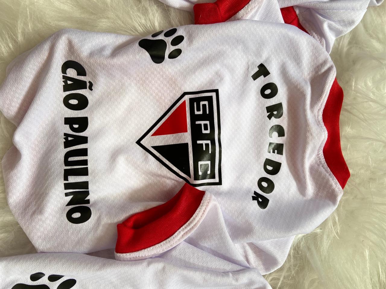 Camiseta para cachorro de time - Cão Paulino - São Paulo