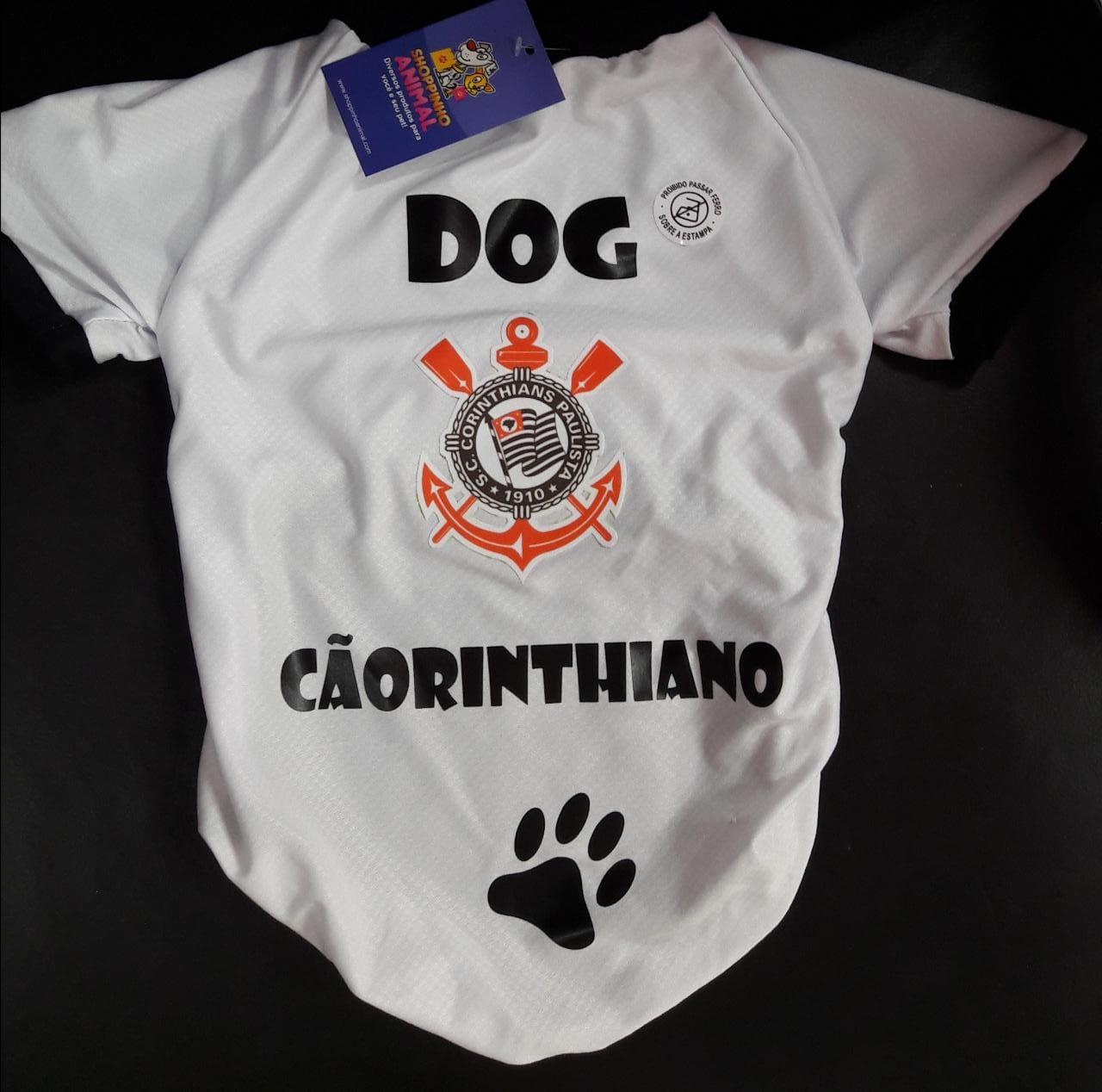 camiseta cãorinthiano (corinthians)