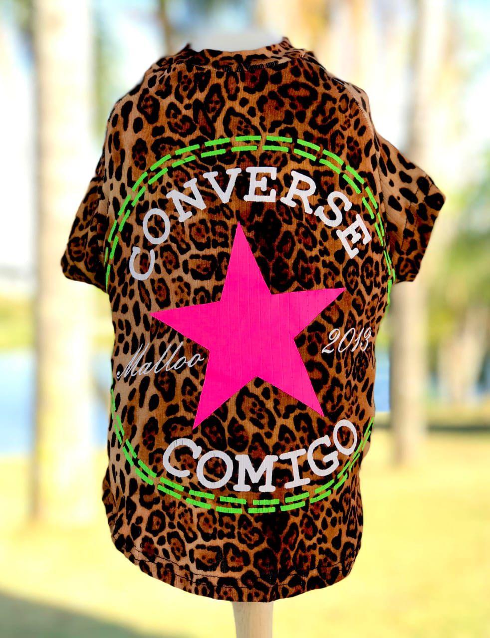 Camiseta Converse Comigo Oncinha