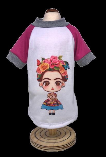 Camiseta para Cachorro Frida  Rosa