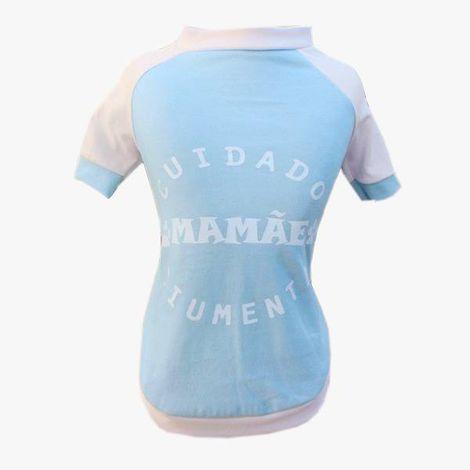 Camiseta para Cachorro - Mamãe Ciumenta Azul Bebê