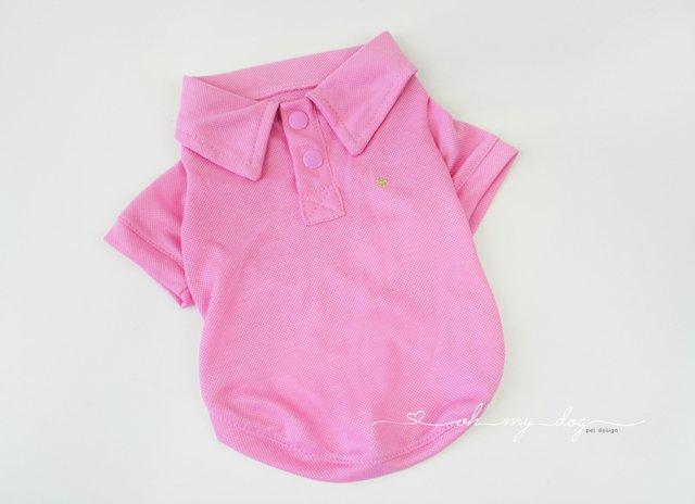 Camiseta para Cachorro Polo Rosa