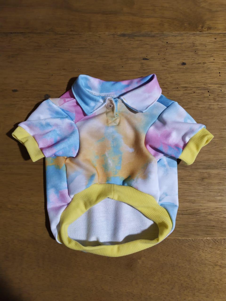 Camiseta para Cachorro - Tie Dye