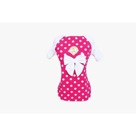 Camiseta UV para Cachorro Bolinhas Pink