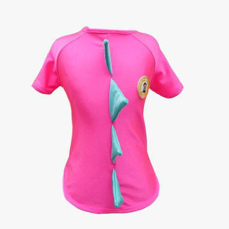 Camiseta UV para Cachorro - Dino Pink