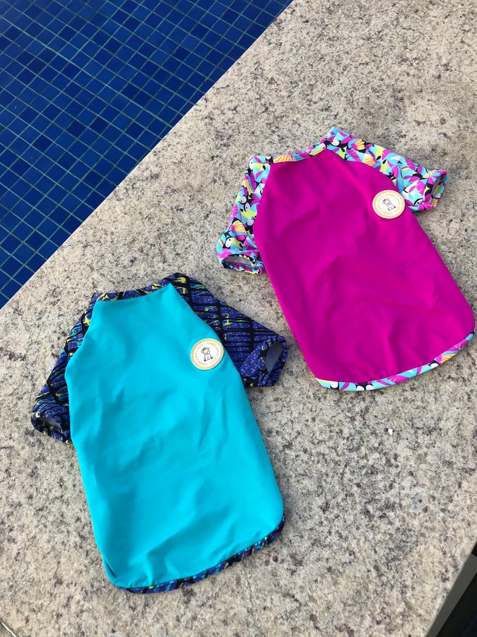 Camiseta para Cachorro Proteção UV Pink