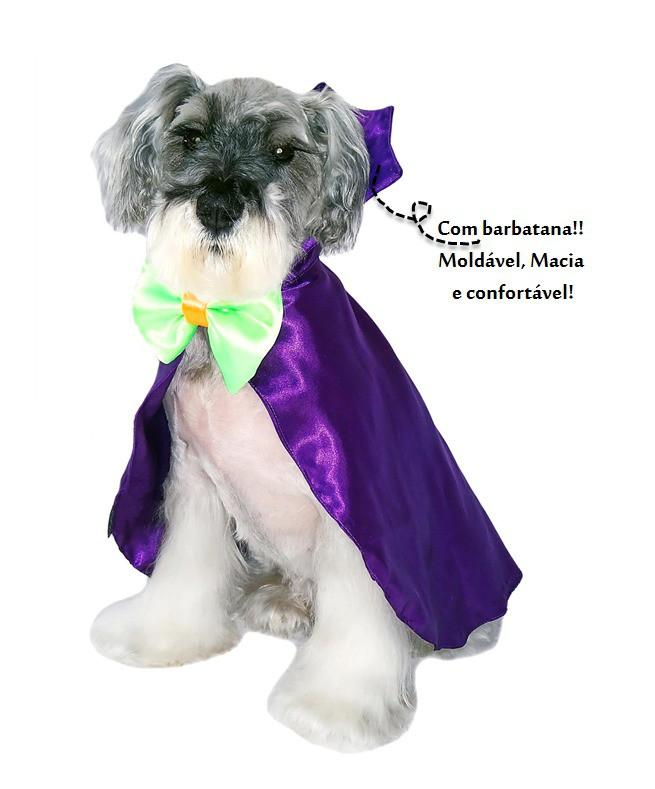 Fantasia para Cachorro Capa Drácula Roxo