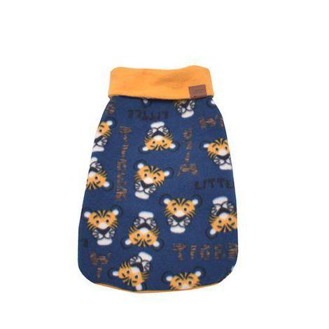 Capa Dupla Face para Cachorro Azul- Tigre