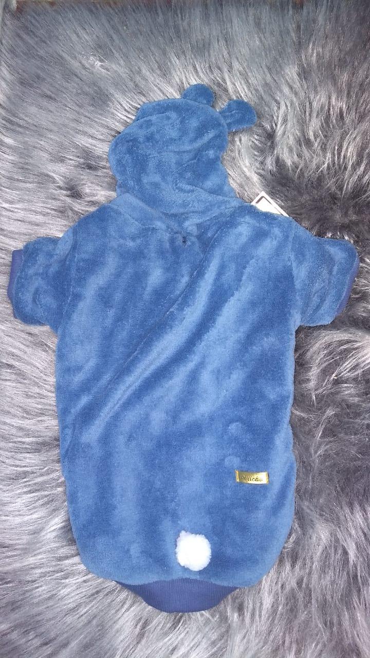 Casaco Mantinha Azul Claro