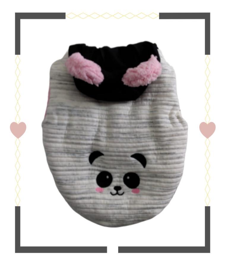 Casaco Panda Rosa