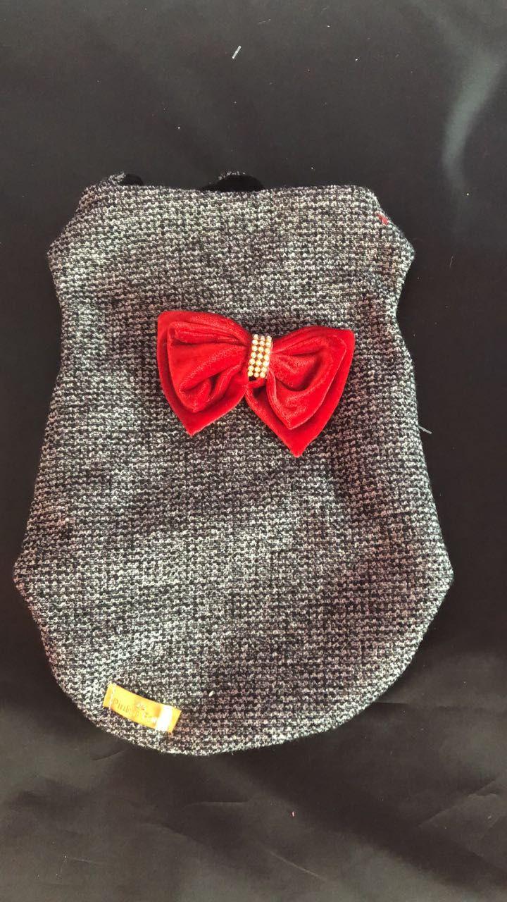 Casaco Tweed Laço Bordô
